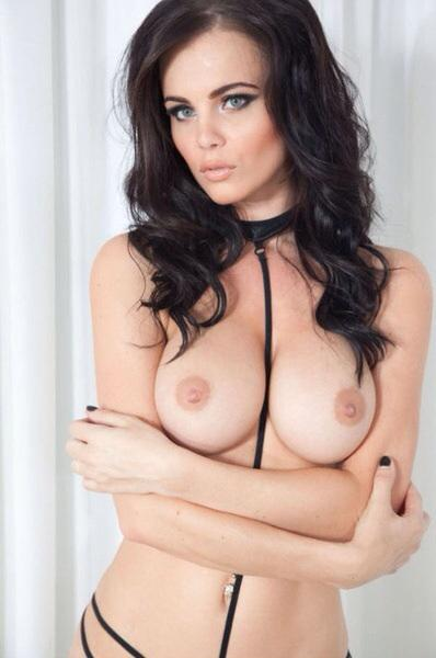 Dark Haired Glamour Model Emma Glover Goes Topless In Funky Yuvutu 1