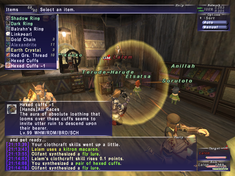 renzy ffxi very time long first zouri crafts accidently forum crafting whole amazing