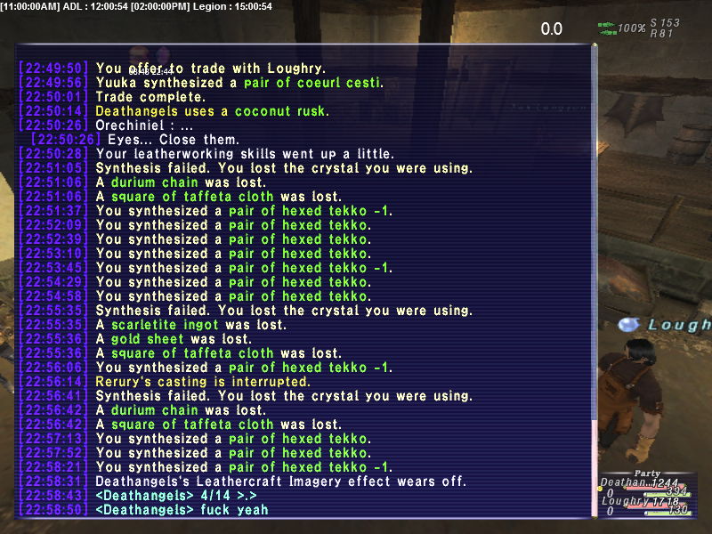 loughry ffxi very time long first zouri crafts accidently forum crafting whole amazing