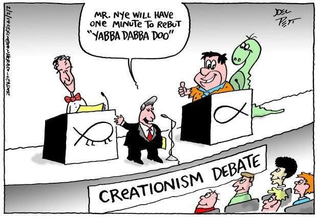kohan  bitch this wooooo baby yeah apatosaurus debate creationismevolution bill