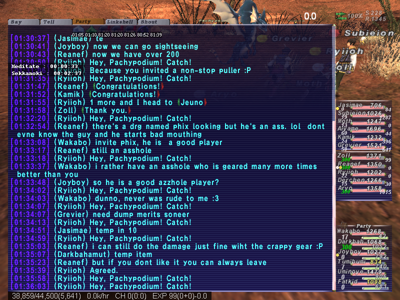 wakabo ffxi ended zoning drop head reclaiming suck hauby fail random lacovie