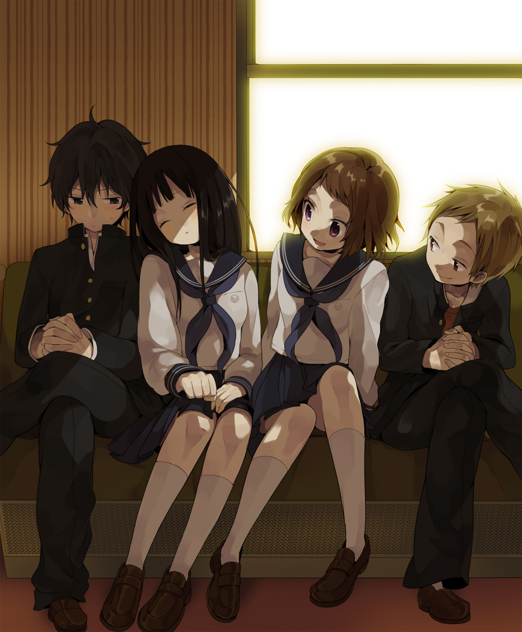 is there any kiss in hyouka hyouka