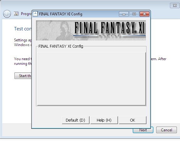 jaxon ffxi config problems win7 trouble slow settings resolution lower running windows updated open ideas