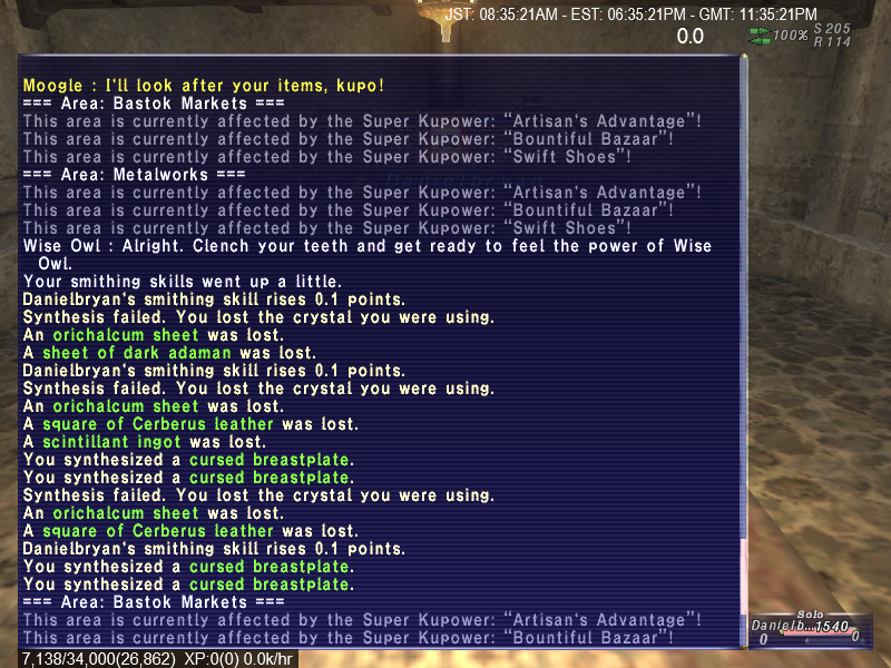 nynja ffxi only items want doesnt just sometimes crafting play advanced orvail capped support subs pair least apart crafted blown lost 3-4mil amazing vexed wanted worth ingredients gagesnails