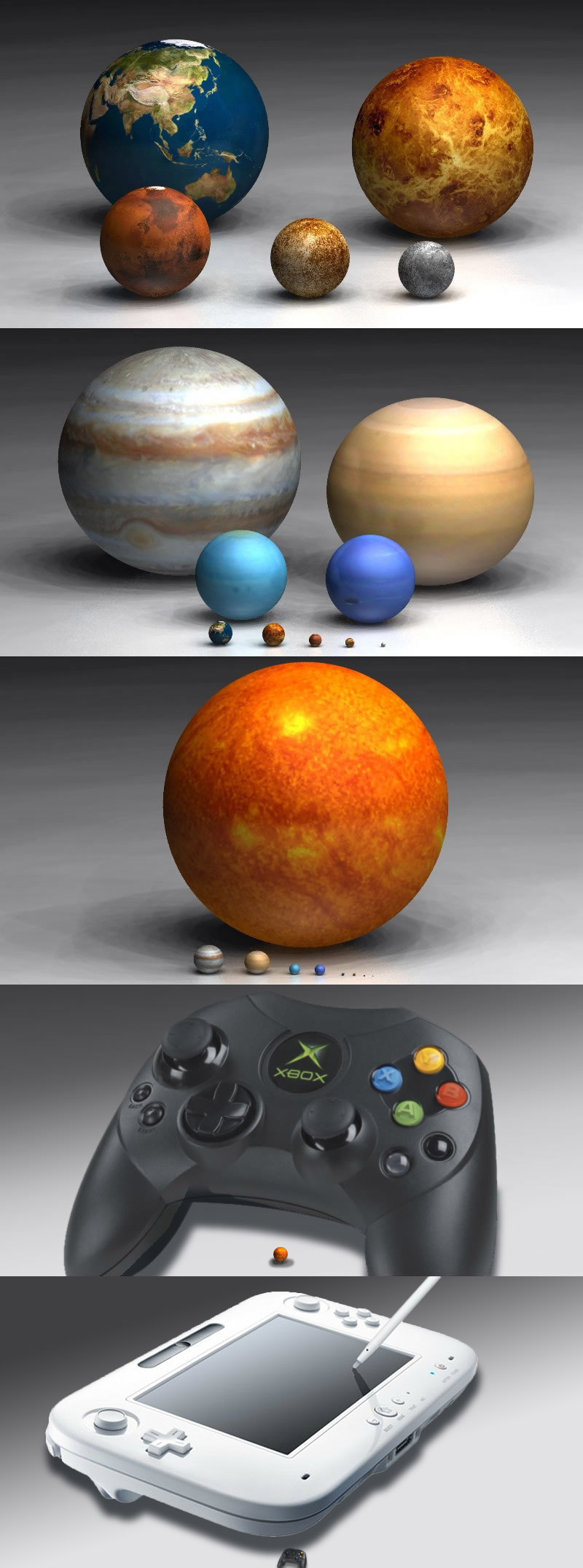 What are the sizes of the nine planets  Referencecom