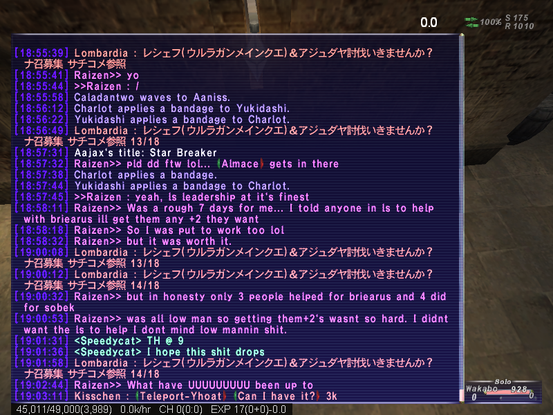 wakabo ffxi brew kiting party earth eventually atma apoc times dying starts crusher mins 4ws death seconds wearing lolfullperlewarwithlv30skill kills finally damage shit absolute ittank shot earlier attacks watch heals dies rani altep fail fastest exping backstory rest wipe instant random popped continues kill decides alliance claim free