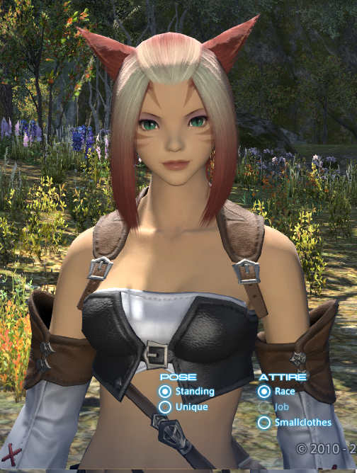 ksandra ffxiv this hair ffxi character like color what green more help pinkish look akin cause laughing stop cannot eyesmouth expression website official best here found also actually match recreating grown accustomed quite personally pictures your benchmark going heres style just char post slightly darker edit2 pinkredish