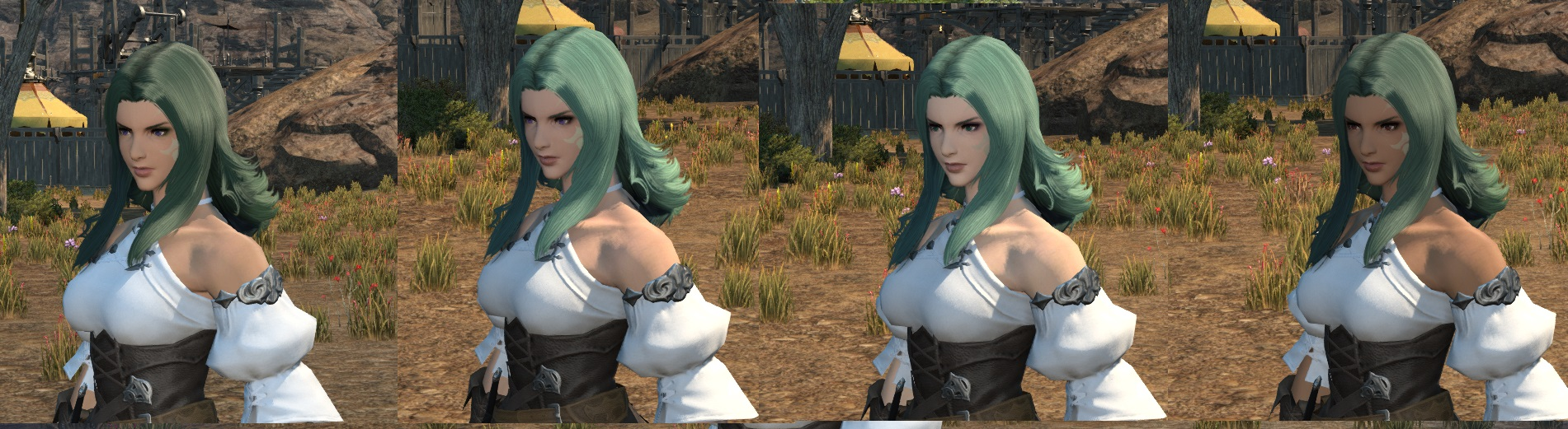 manako ffxiv this hair ffxi character like color what green more help pinkish look akin cause laughing stop cannot eyesmouth expression website official best here found also actually match recreating grown accustomed quite personally pictures your benchmark going heres style just char post slightly darker edit2 pinkredish