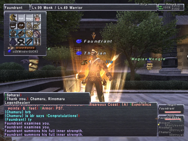 faundrant ffxi doing this that comes love down proph also caliburn grats tool shame like prophett moirai leviathan list relicmythic weapons seems completed known time long forever