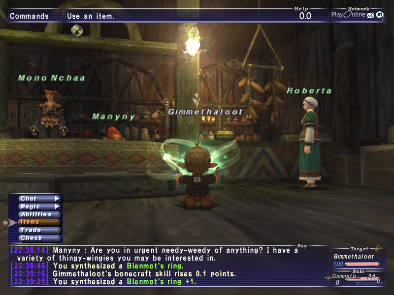 shadymdub ffxi very time long first zouri crafts accidently forum crafting whole amazing