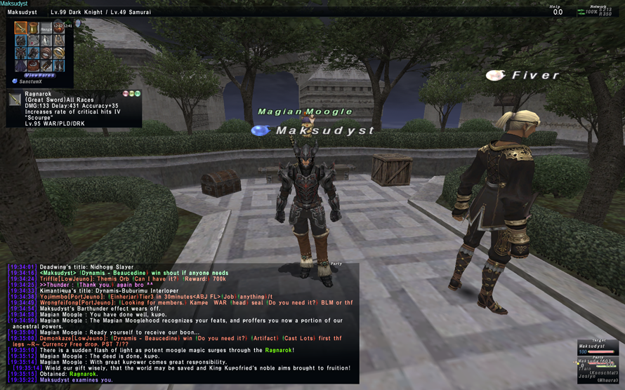 maksudyst ffxi doing this that comes love down proph also caliburn grats tool shame like prophett moirai leviathan list relicmythic weapons seems completed known time long forever