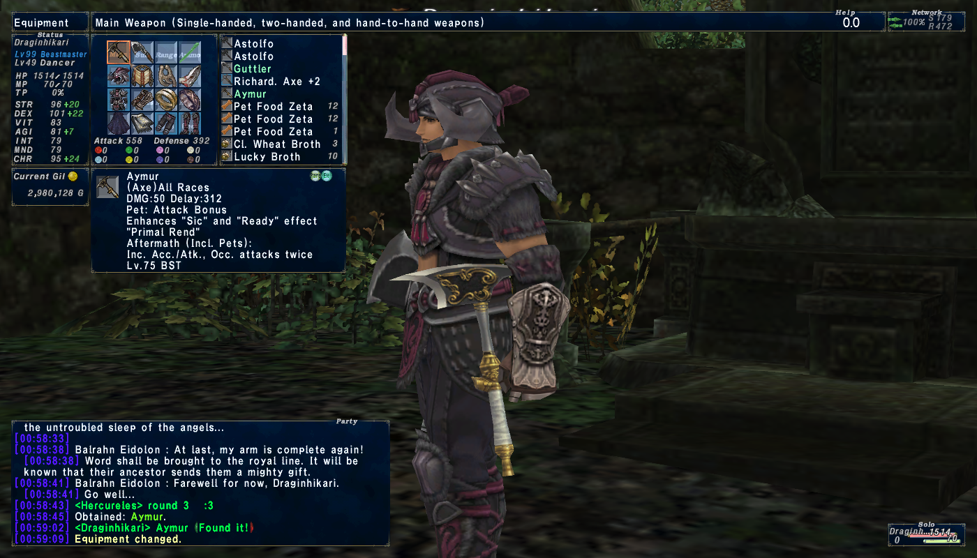 draginhikari ffxi doing this that comes love down proph also caliburn grats tool shame like prophett moirai leviathan list relicmythic weapons seems completed known time long forever