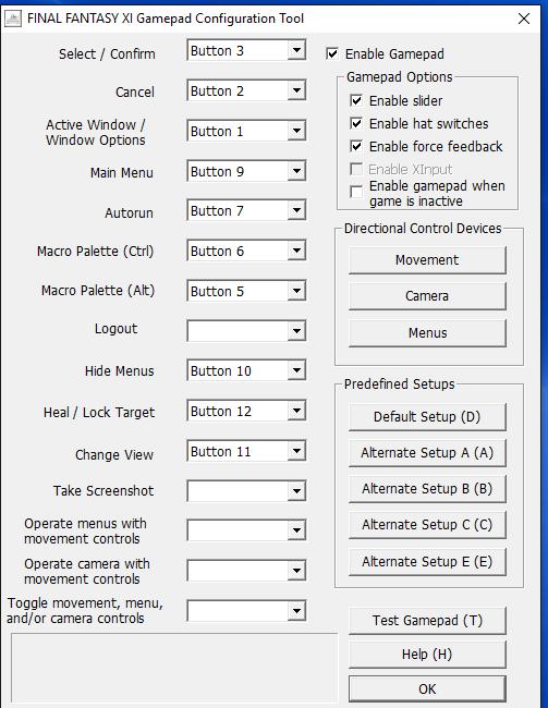 FFXI PC Controller Issue