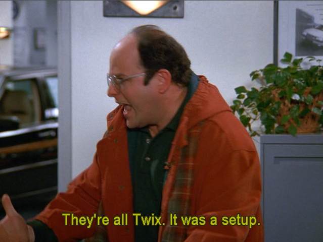 Twix Is The Only Candy With The Cookie Crunch Seinfeld
