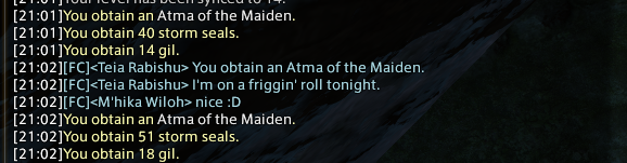 narol ffxiv gotten patch next tomestone outside first minicactpot weapon also accs lolable done catchphrase witty drops thread theres with that might poetics enough place awhile have hold