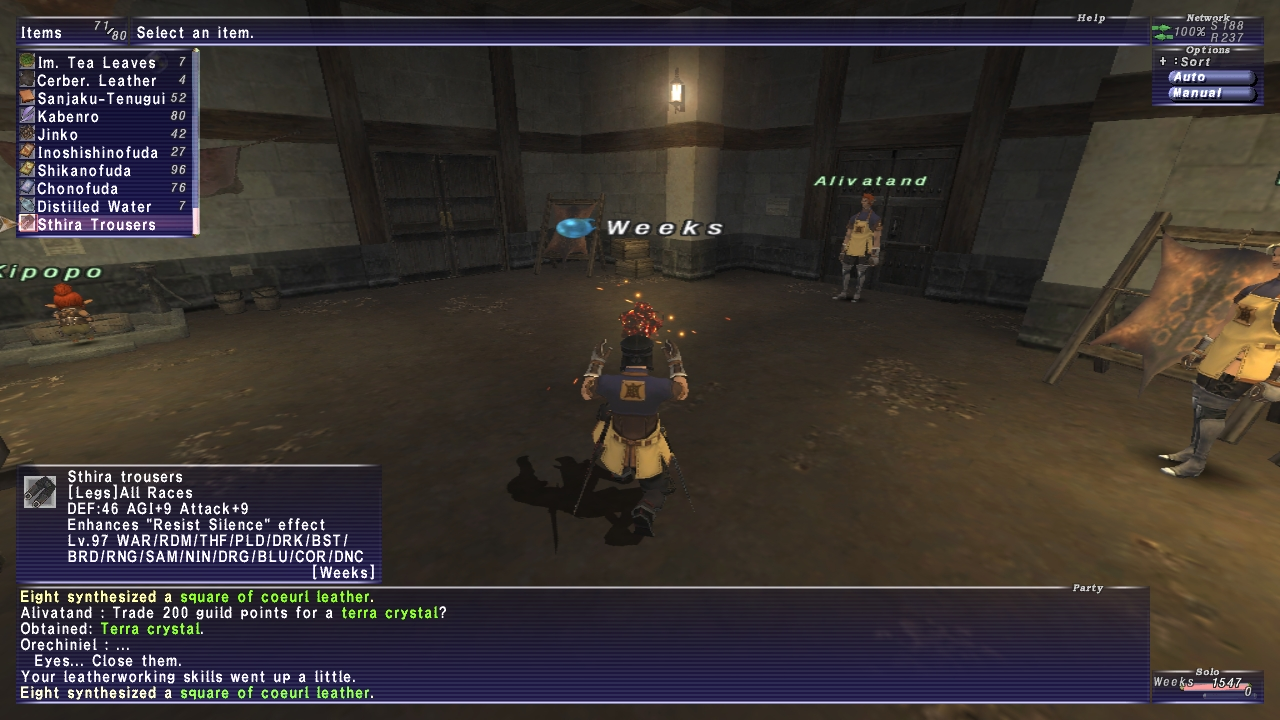 weeks ffxi very time long first zouri crafts accidently forum crafting whole amazing