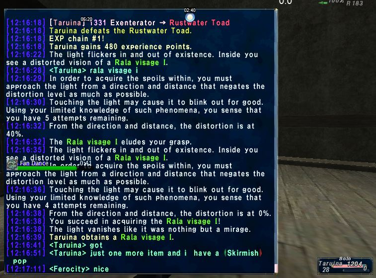 taruina ffxi seeing using same runs every like parts from what seemed even once sets 554 went last 80 chance findings information torso update skirmish night since back take this