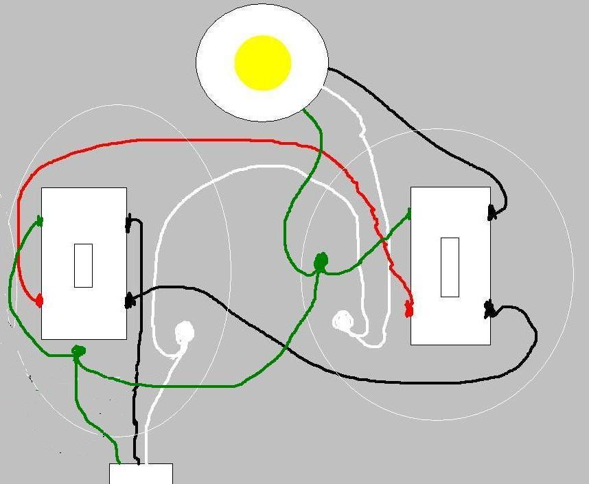 Adding a Switch + Single Outlet to Existing 3 way + Light ...
