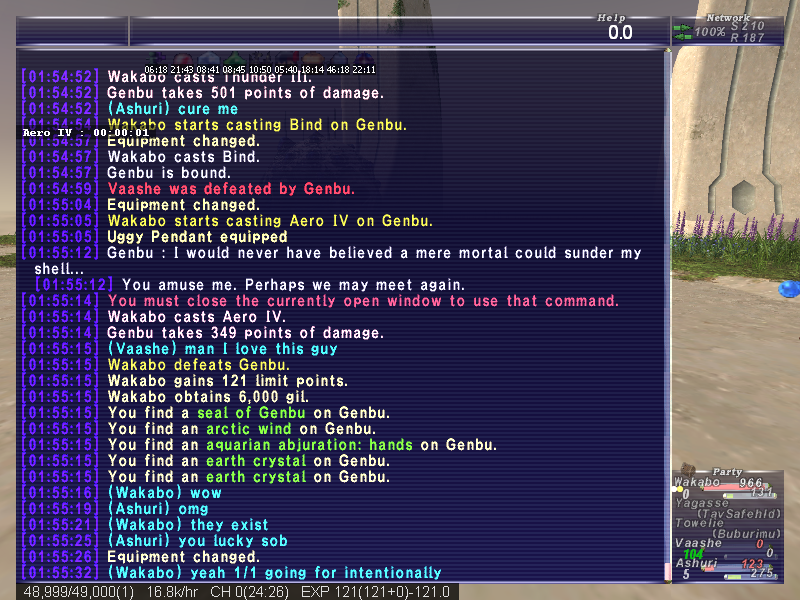 wakabo ffxi feel wasting nuke single minute edition xxiv kill dorp