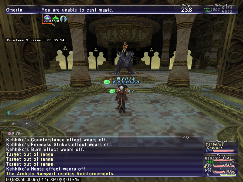 nynja ffxi your slot unlock fucking moron equip little harsh line ranged forget last weapon that unless youre weapons definately jugs harder salvage comment slavage wants anyone