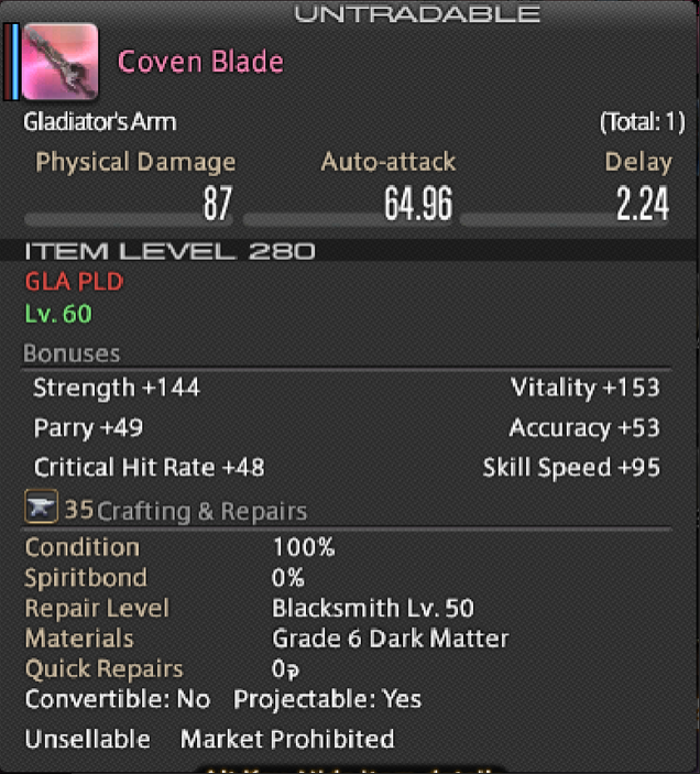 Diadem Coven Weapon(s)
