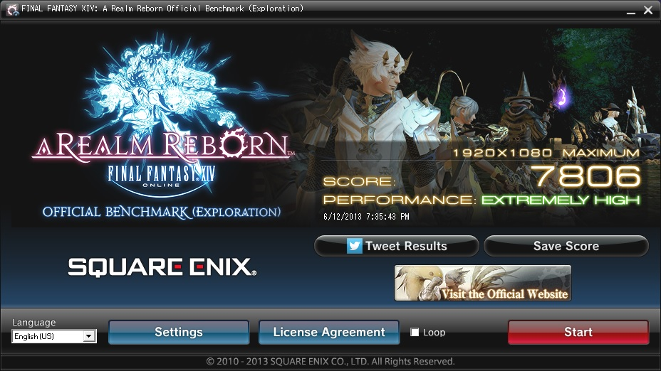 FFXIV ARR Benchmark Scores: Now with Character Creation