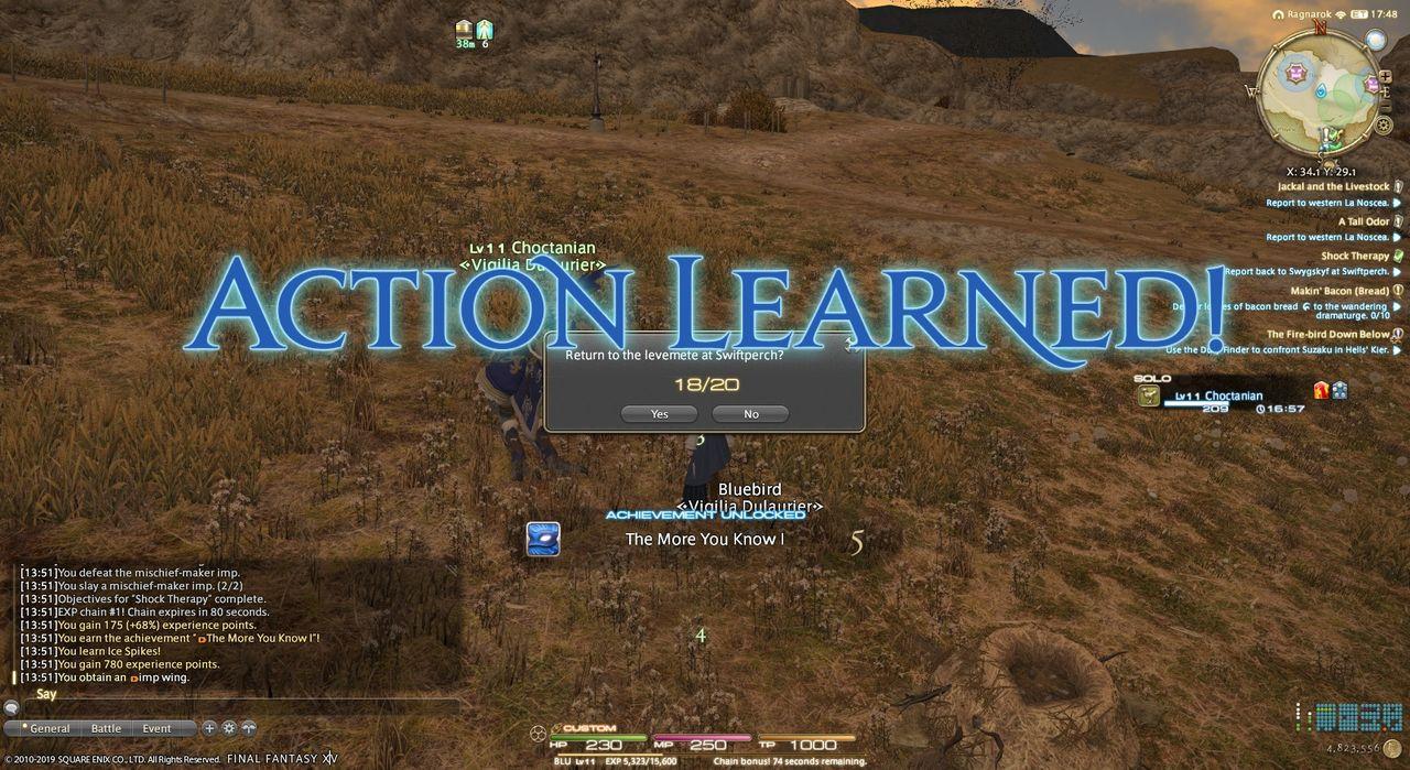 BLU spell learning