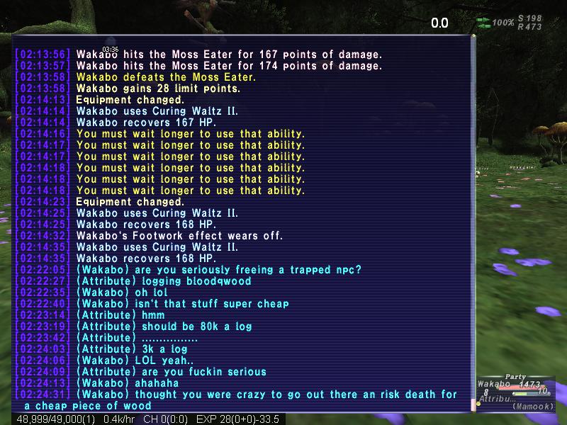 wakabo ffxi ended zoning drop head reclaiming suck hauby fail random lacovie