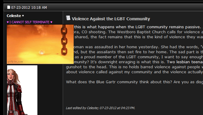 hey  this shit that discuss further entitled identity latter cannot link removed thats respected holy against human thread posted community really when issue would faintest into quite violence lgbt basic rights violation gross there been such idea
