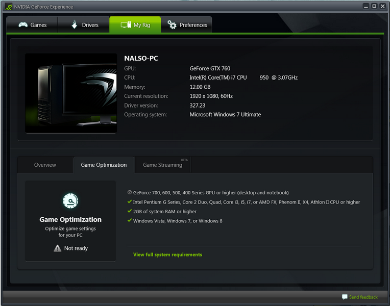 callisto tech installed this geforce experience anyone know recognizing having that card series gtx760 after just game optimization question getting checking everything drivers noticed