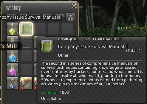 mortilox ffxiv about since retainer accessories doesnt trick really well work would that care know youre right botanistminerfisher thread gatherering forgot twice slot ring count didnt