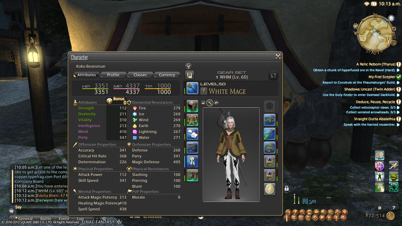 mrbeansman ffxiv slots upgrade same probably comparable cost myth with information reborn relic1 because king weapon relic