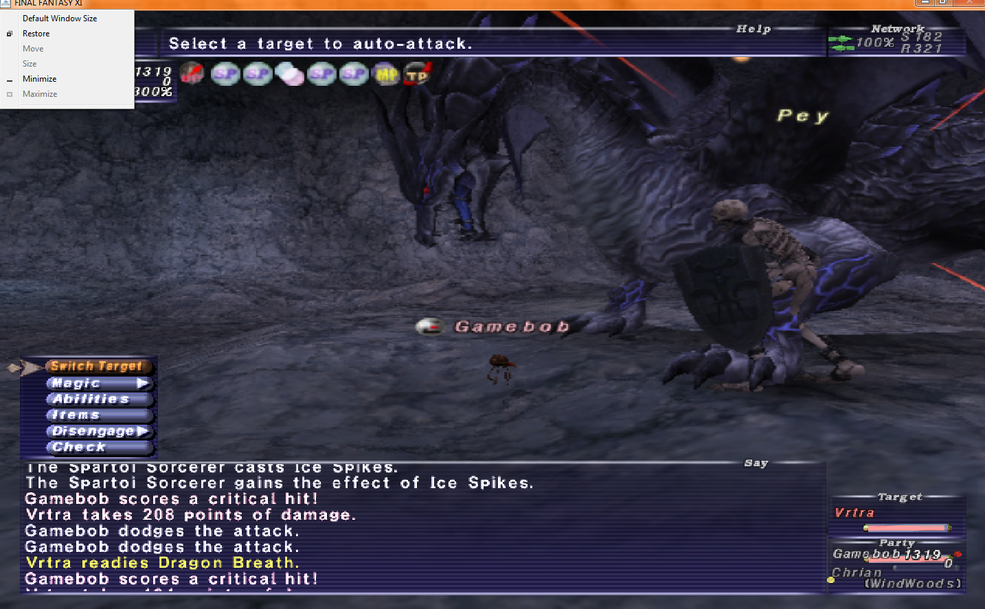 chrian  ffxi running config with there graphics mess changed laptop server have sorry diidnt