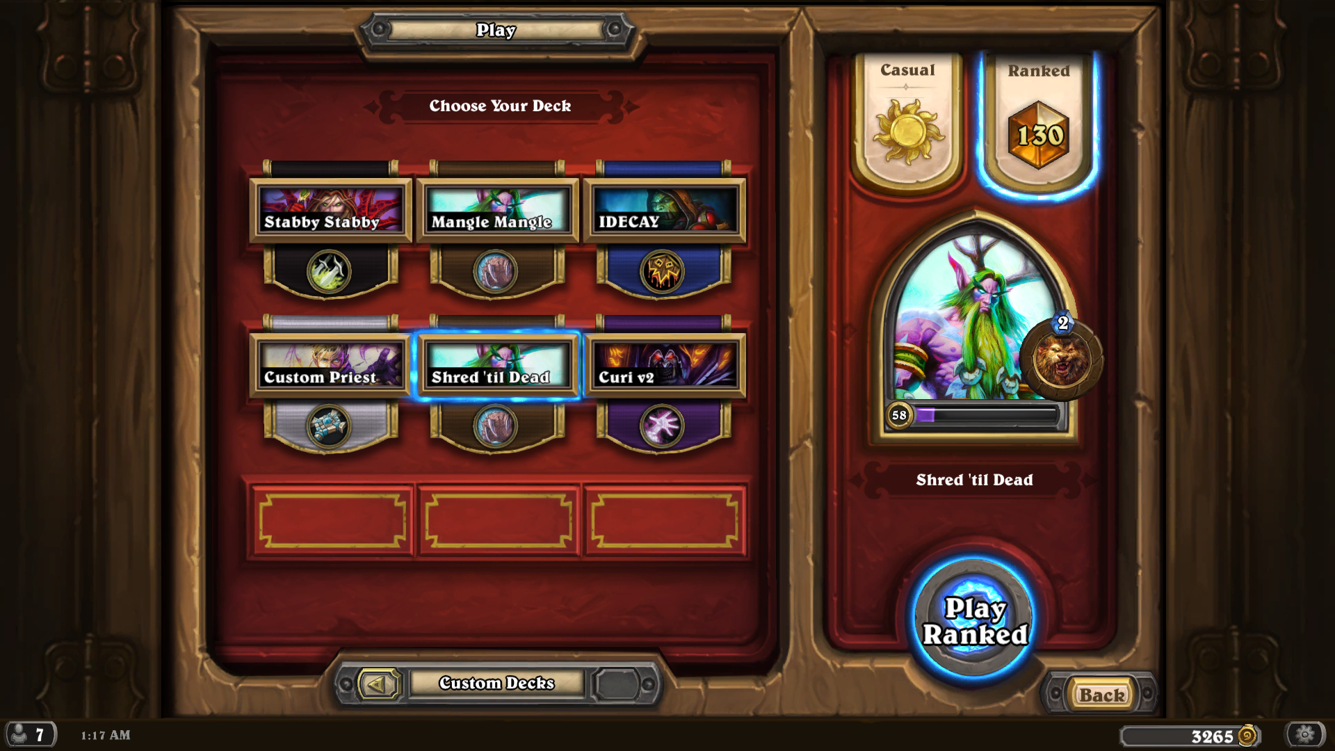 slott games easy super with cheese decks heroic beating naxx here brag about hearthstone