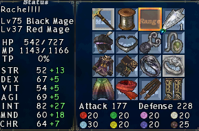 hey ffxi 3mdt 4pdt earring hagondes 6pdt 4mdb ring whole 10dt dark 12night 3bdt umbra 3enemy crit cape 2mdt lucked still quest abyssea gende cuffs overcapped bilaut defending could 50pdt 26mdt exactly lands 18bdt good enough capped technically sabots slipor sash stuff 3mdb artsieq meva 5pdt hose runs 2pdt retain slot during