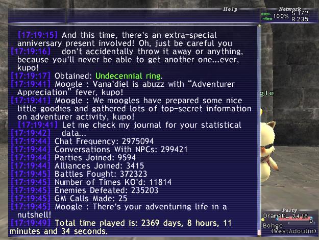 darkmagi ffxi 2013 stats majority 2012 adventurer appreciation streak brokennn