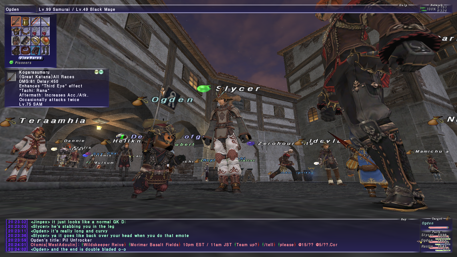 slycer ffxi doing this that comes love down proph also caliburn grats tool shame like prophett moirai leviathan list relicmythic weapons seems completed known time long forever