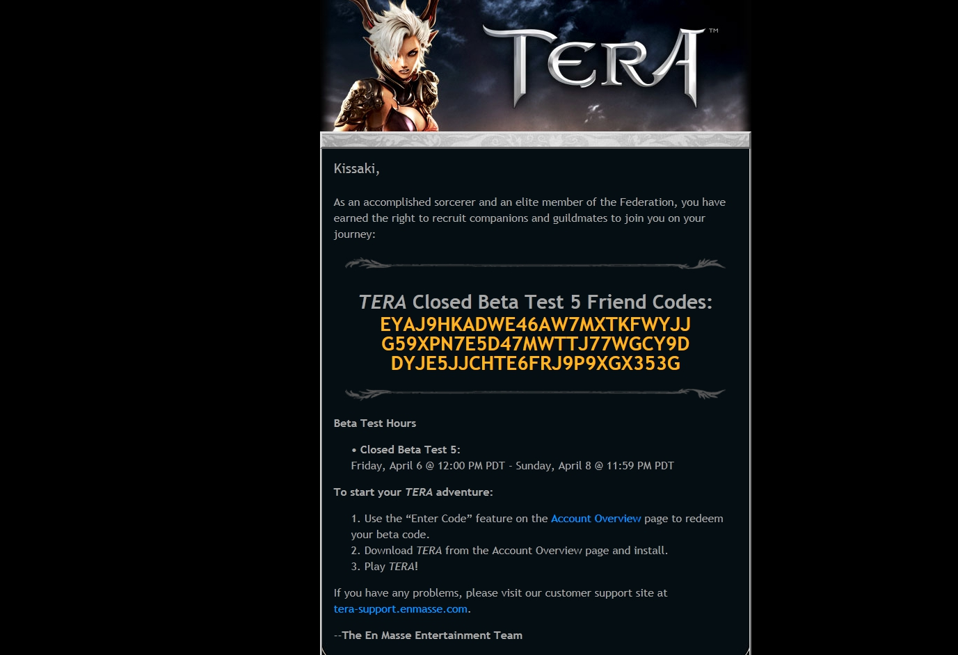 shidobu games beta code friday that time specific open supposed servers test thread spare terabeta thanks tera snagged there