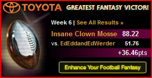 moss  season year eliminator week tiebreaker longest streak game elements combines start suicide bregor pool winner ryany stupid picked edit teams scored 15-17 weeks points exact lost tied eagles pick worst games thing sort thought honestly inquire leagues 2010 football inside league awesome openings interpretation make area declare openly gray fantasy