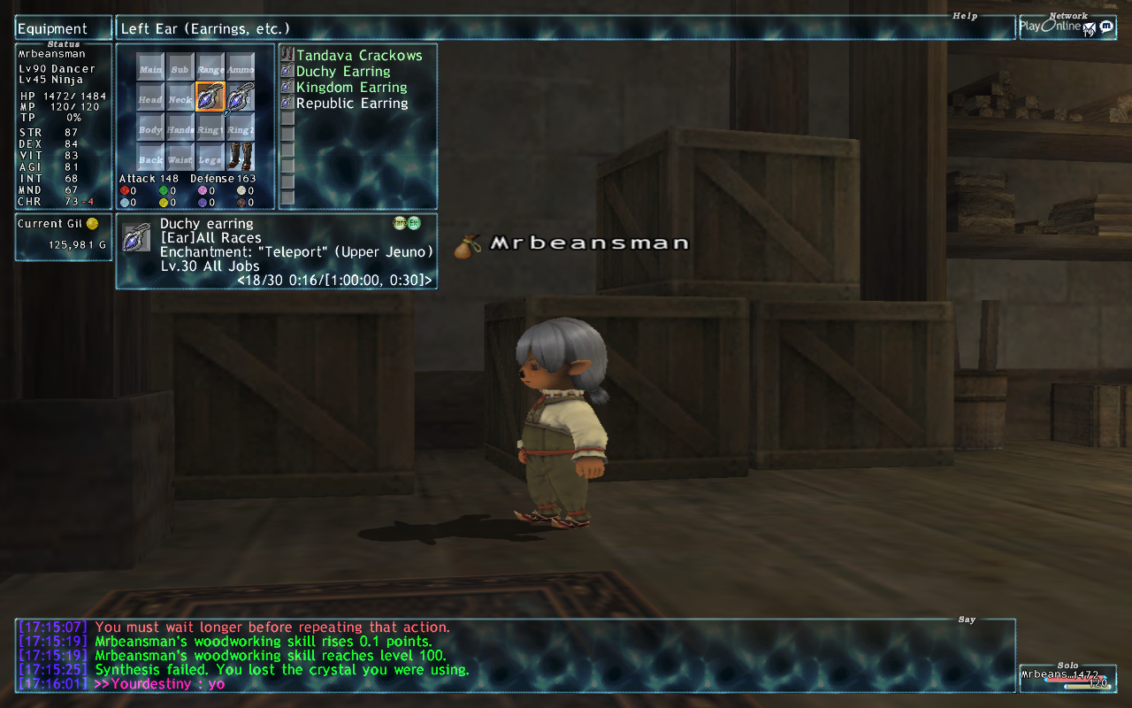 mrbeansman ffxi very time long first zouri crafts accidently forum crafting whole amazing