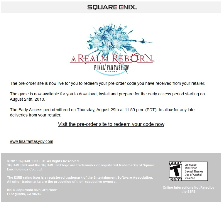adajer ffxiv tired that image never pre-order code redeeming